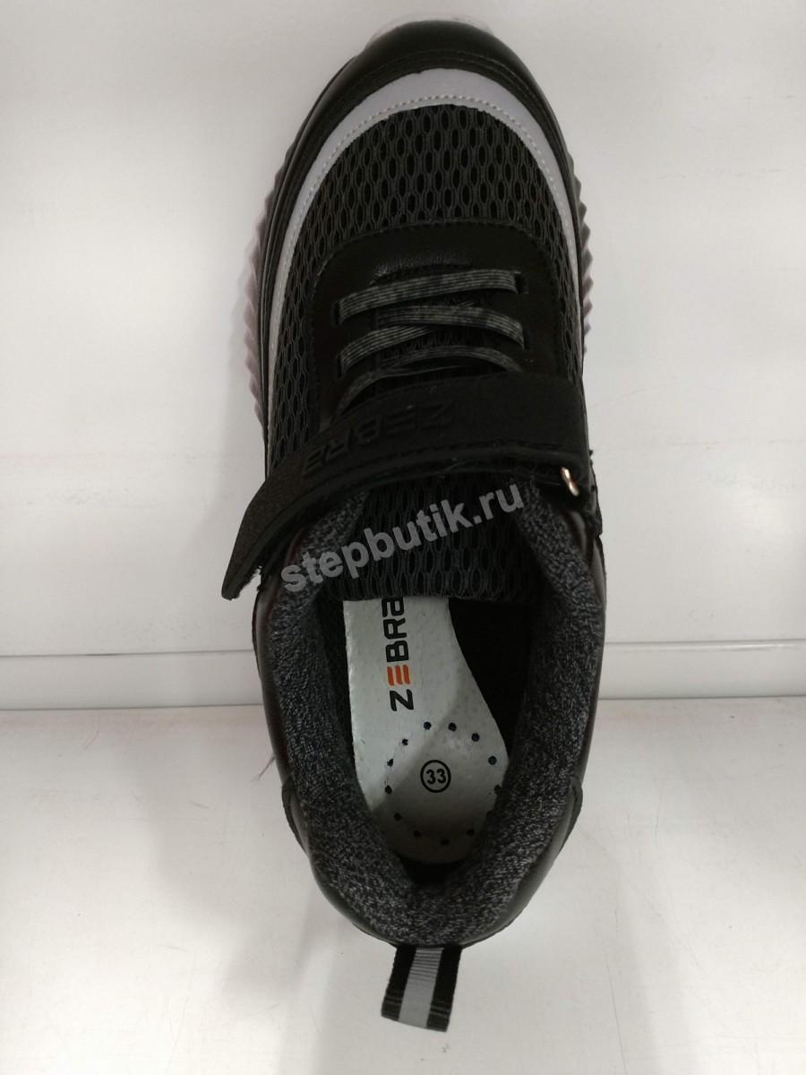 15329-1 Зебра Кроссовки (32-37) чёр