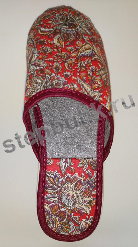 BTW70304-55-58 Тапки с закр.носком (36-40) кр