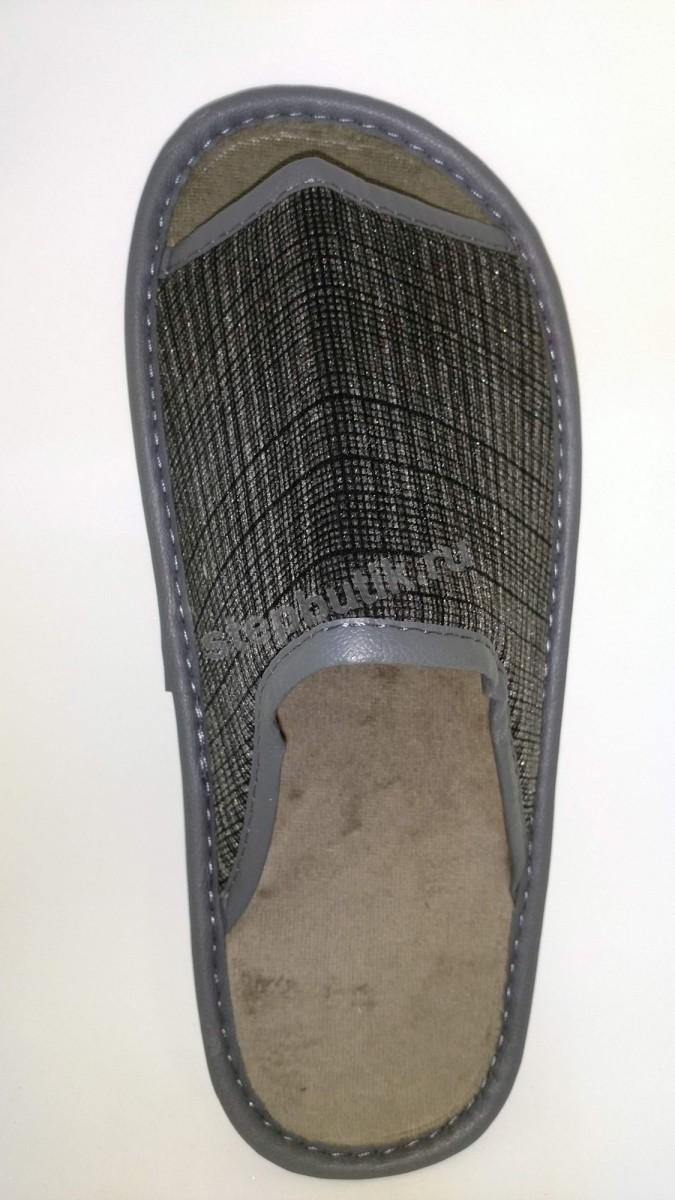 BTM70702-95-43 Тапки с откр.носком (41-45) сер