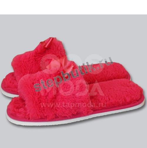 160 Тапочки мех. с открытым носком (35-40) мал