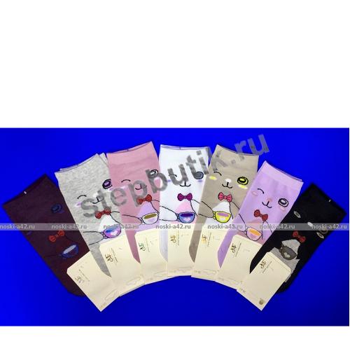 Носки женские Кошечки серый