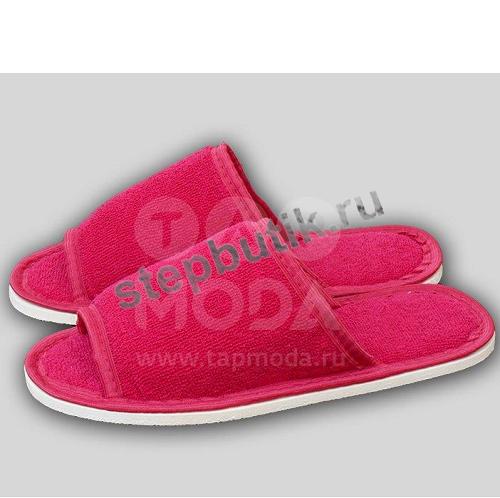 046 Тапочки махр. с открытым носком (35-40) мал
