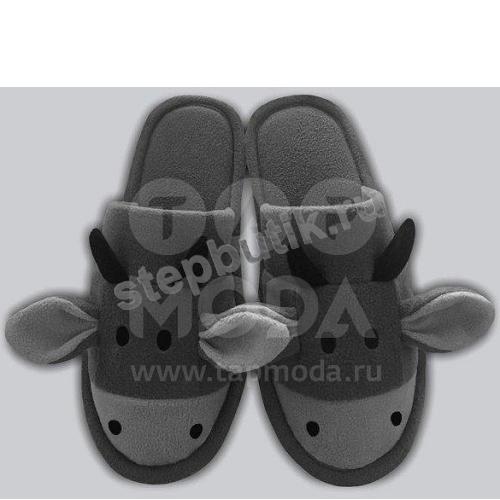 """197 Тапочки """"Быки"""" (30-34) сер"""