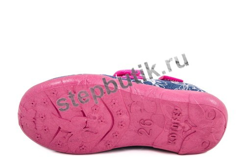 431071-11 Котофей Туфли текстиль (26-31) син-кр