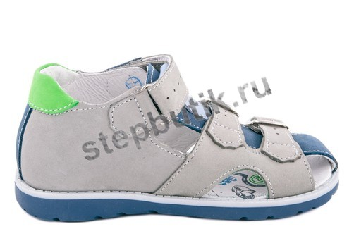 422057-21 Котофей Сандалии (27-31) сер-син