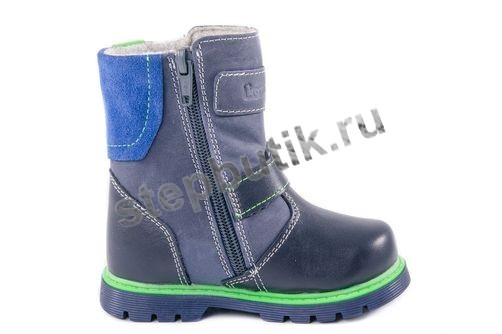 262059-31 Котофей Сапожки байка (23-26) синий