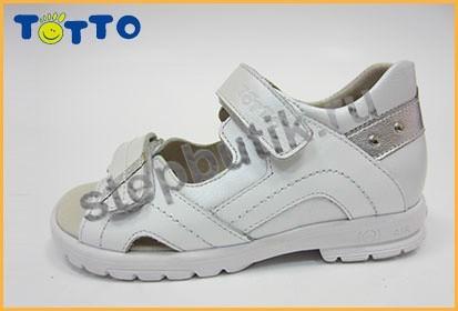 10215-9,19,022 Тотто Босоножки (27-31) бел-срб