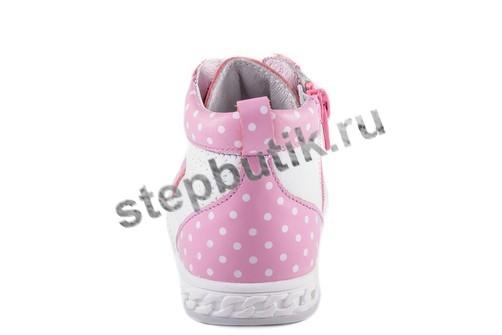 352055-21 Котофей Ботинки (24-29) роз-бел