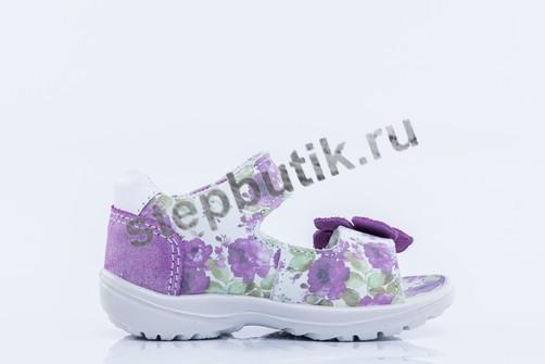 322056-21 Котофей Босоножки (25-28) сир-цветы