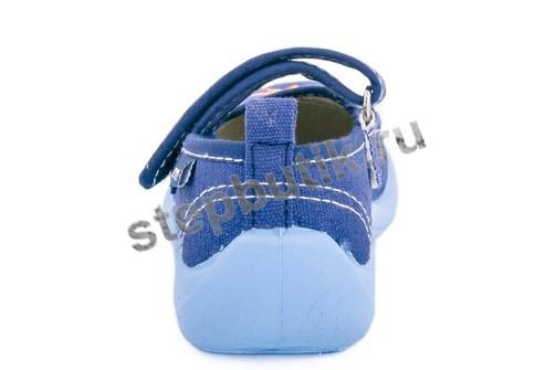 231083-12 Котофей Туфли текстиль (22-27) синий