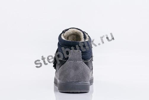 252117-31 Котофей Ботинки байка (23-26) сер-чёр