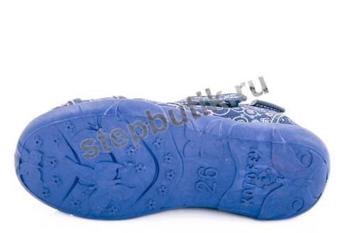 421004-11 Котофей Босоножки текстиль (26-31) син