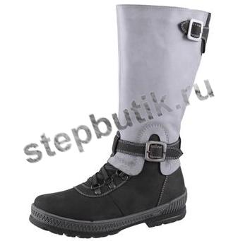 662077-52 Котофей Сапожки (32-37) сер-чёр