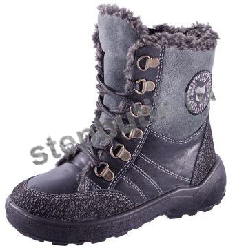 352045-53 Ботинки (23-31) чер-серый