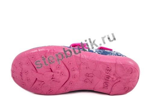 431071-11 Туфли текстиль (26-31) син-кр