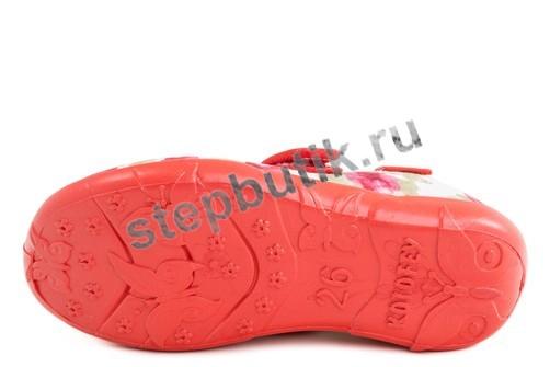 431077-12 Котофей Туфли текстиль (26-31) бел-кра
