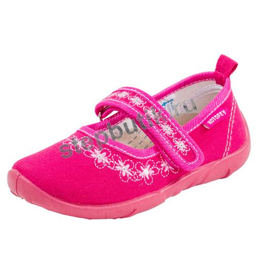 431075-12 Туфли текстиль (26-31) фук-роз