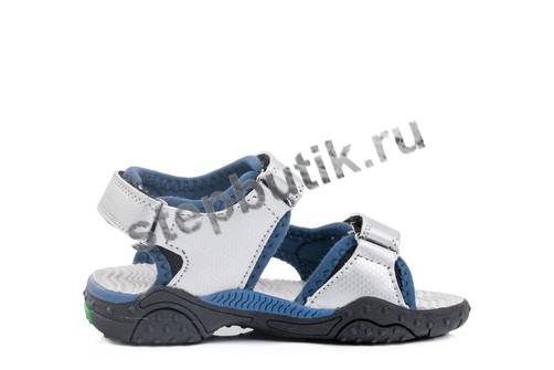 323060-11 Котофей сандалии пляжные (25-29) сер-син