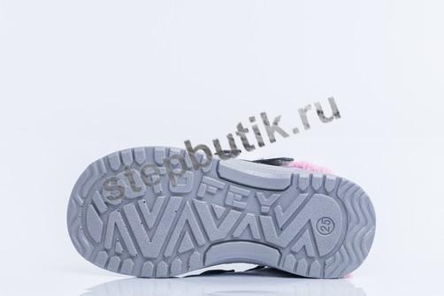 352152-33 Котофей Ботинки (25-29) сер-роз
